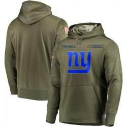 Nike New York Giants Men's Olive 2018 Salute to Service Sideline Therma Performance Pullover Hoodie